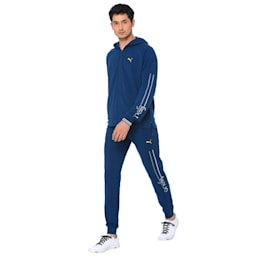 one8 Men's Hooded Track Jacket, Gibraltar Sea, small-IND