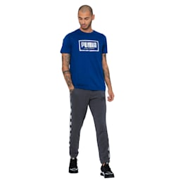 Holiday Pack Graphic Men's Track Pants, Dark Gray Heather, small-IND