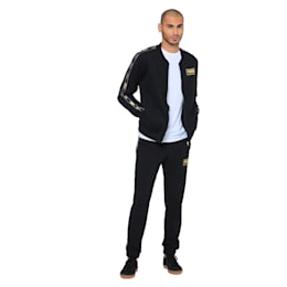 Holiday Pack Full Zip Men's Bomber Jacket, Cotton Black, small-IND