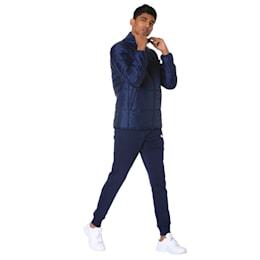 Essentials Padded Full Zip Men's Jacket, Peacoat, small-IND