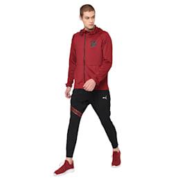 Tec Sports Full Zip Men's Hoodie, Rhubarb, small-IND