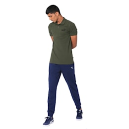 Essentials Pique Men's Polo Shirt, Forest Night, small-IND