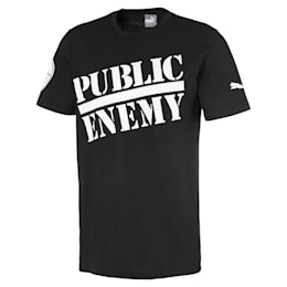 T-Shirt PUMA x PUBLIC ENEMY pour homme, Puma Black, small
