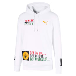 PUMA x DEF JAM Public Enemy Men's Hoodie, Puma White, small
