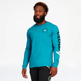 PUMA x CLOUD9 Orbit Long Sleeve Tee, Hawaiian Ocean, small