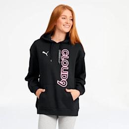 PUMA x CLOUD9 Simulation Women's Hoodie, Cotton Black-Azalea Pink, small