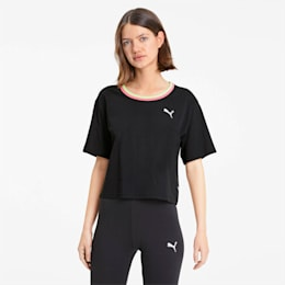 PUMA Celebration Women's Style Tee, Cotton Black, small-SEA