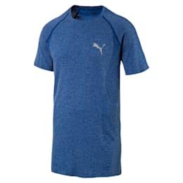 Active Men's evoKNIT Basic T-Shirt, TRUE BLUE Heather, small-IND
