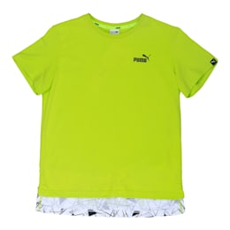 Boys' Sportstyle T-Shirt, Limepunch, small-IND