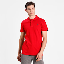 ESS Jersey Polo Cotton Black, Barbados Cherry, small-IND