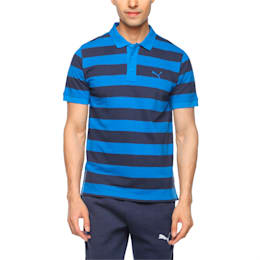 ESS Striped Pique Polo, Peacoat-Puma Royal, small-IND