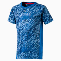 Boys' Gym All-over T-Shirt, Lapis Blue, small-IND
