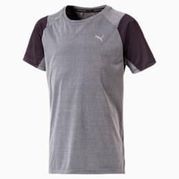 Boys' Running and Training T-Shirt, Medium Gray Heather, small-IND