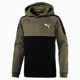 Kids' Sportstyle Hoodie, Olive Night, small-IND