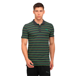 Sports Stripe Pique Polo, Dark Gray Heather, small-IND