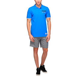 STYLE SUMMER Block Polo, French Blue, small-IND