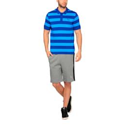 ESS Striped Pique Polo, true blue-blue danube, small-IND