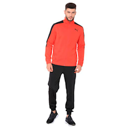 Classic Tricot Men's Track Suit, Flame Scarlet-Puma Black, small-IND