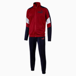 ColourBlocked Tricot Suit cl Peacoat, Red Dahlia, small-IND
