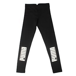 Girls' Style Leggings, Cotton Black, small-IND