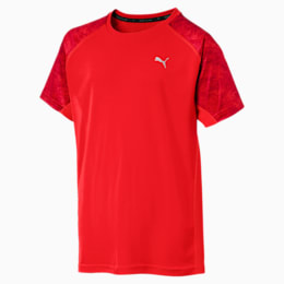 Boys' Gym AOP Tee, Flame Scarlet, small-IND