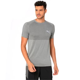 evoKNIT Men's Basic Tee, Medium Gray Heather, small-IND