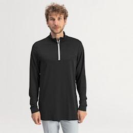 evoKNIT Texture Quarter Zip Herren Golf Pullover, Puma Black, small