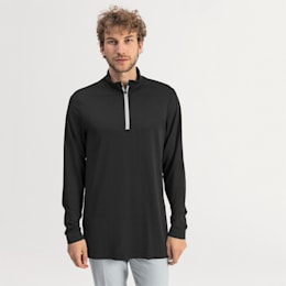 evoKNIT Texture golfpullover med kvart lynlås til mænd, Puma Black, small