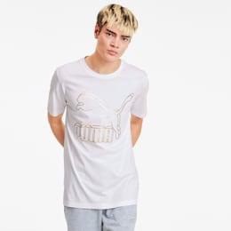 Camiseta Classics con logo para hombre, Puma White-Gold, pequeño