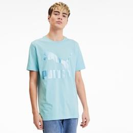 Camiseta Classics con logo para hombre, Aquamarine, pequeño