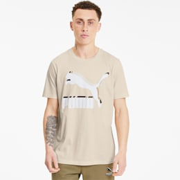 Camiseta Classics con logo para hombre, Tapioca, pequeño