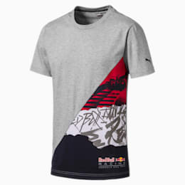 Red Bull Racing Men's Graphic Tee, Light Gray Heather, small