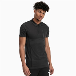 BMW Motorsport evoKNIT Short Sleeve Men's Polo Shirt, Puma Black, small