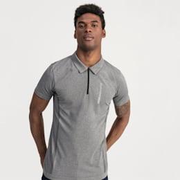 BMW Motorsport evoKNIT Short Sleeve Men's Polo Shirt, Medium Gray Heather, small