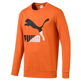 Classics Logo Men's Crewneck Sweatshirt, Jaffa Orange, small