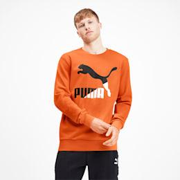 Sudadera Classics Logo con cuello redondo para hombre, Jaffa Orange, pequeño