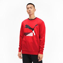 Classics Logo Men's Crewneck Sweatshirt, High Risk Red--logo combo, small