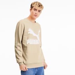 Sweatshirt Classics Logo Crew para homem, Tapioca, small