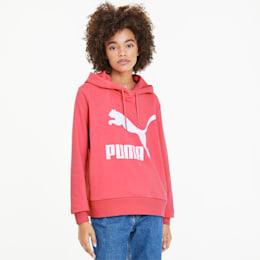 Sudadera con capucha y logo Classics para mujer, Bubblegum, pequeño