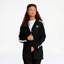 Classics T7 Women's Full Zip Hoodie, Puma Black, small