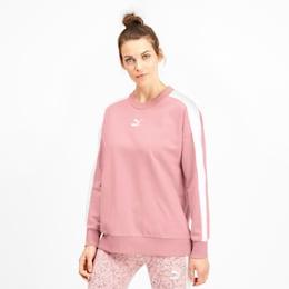Damski sweter z okraglym kolnierzem Classics T7, Bridal Rose, small