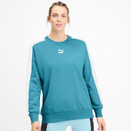 Classics T7 Damen Sweatshirt, Milky Blue, small