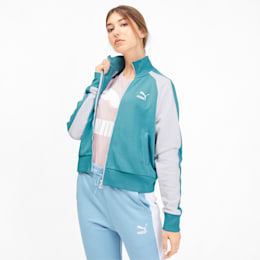 Classics T7 Women's Track Jacket, Milky Blue, small