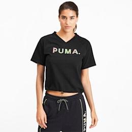 T-shirt con scollo a V Chase donna, Puma Black, small