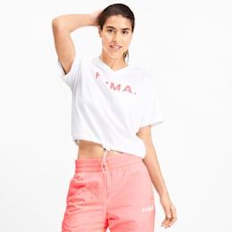 T-shirt con scollo a V Chase donna, Puma White, small