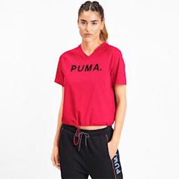 T-shirt con scollo a V Chase donna, Nrgy Rose, small