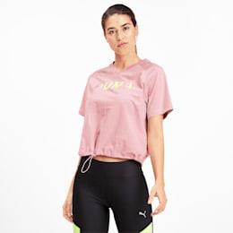 T-shirt con scollo a V Chase donna, Bridal Rose, small