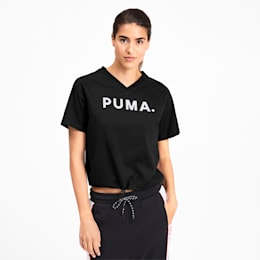 Chase Women's V-Neck Tee, Puma Black, small