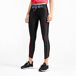 Chase Graphic 7/8 Women's Leggings, Puma Black, small-SEA