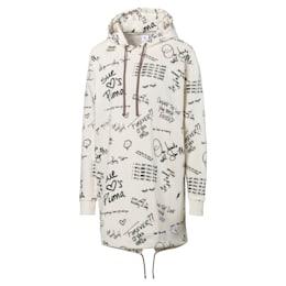 PUMA x SUE TSAI Allover-Print Damen Kleid mit Kapuze, Whisper White, small
